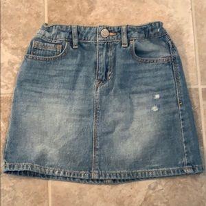 Girls denim mini skirt